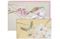 """David Hu Blossom cards (2 designs)