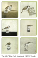 """David Hu bird Cards (6 designs)